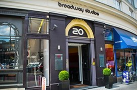 We're located at No. 20 Hammersmith Broadway