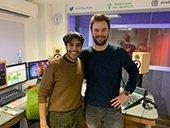 Sacha Dhawan, aka 'The Master' from Dr Who, with Rob Hayward