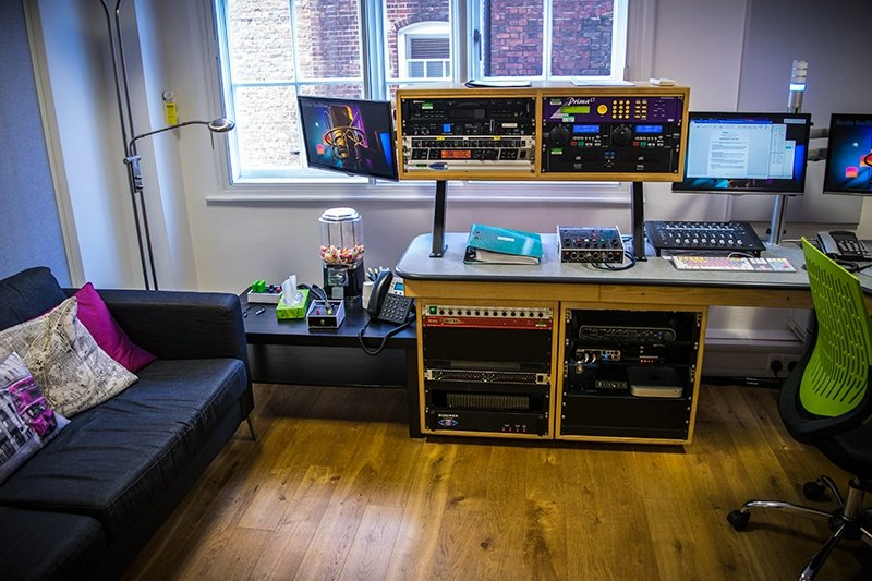 The control room equipment...